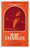 Music Memorabilia:Posters, Ray Charles Spokane Opera House Concert Poster (Expo '74, 1974).Brother Ray holds his head high on this marvelous concert p...