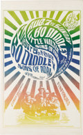"""Music Memorabilia:Posters, Bo Diddley """"Five Men in a Boat"""" Avalon Concert Poster FD-20 (FamilyDog, 1966). This rare poster was only printed once, for ..."""