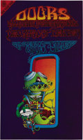"Music Memorabilia:Posters, The Doors ""Pay Attention"" Denver Concert Poster FDDO-18, Signed byRick Griffin (Family Dog, 1967). Jim Morrison is one of t..."