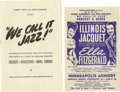 Music Memorabilia:Posters, Ella Fitzgerald Minneapolis Armory Concert Handbill and Program(Ernest Anderson Presents, 1948). Some tough to find pieces ...(Total: 2 )
