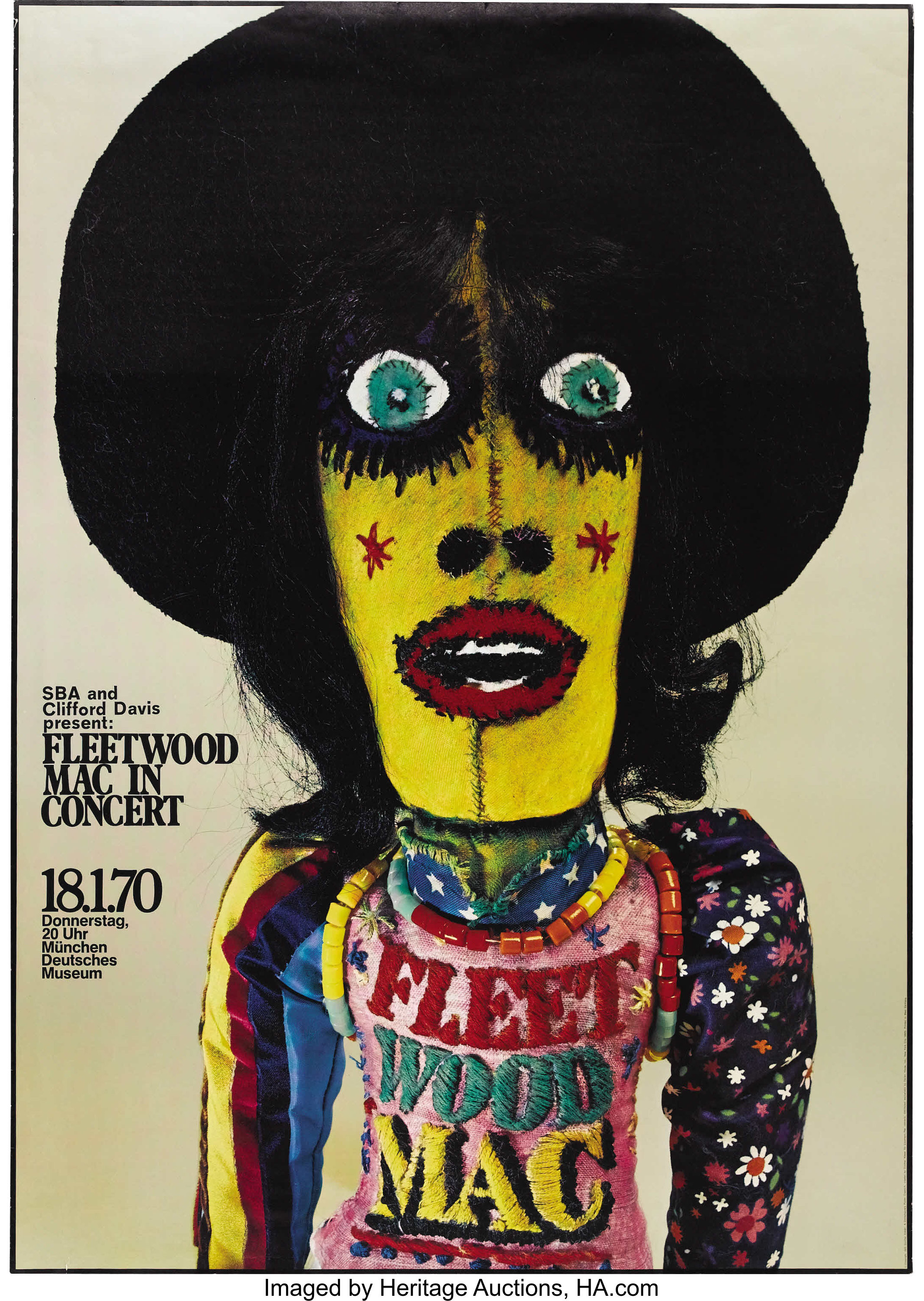 Fleetwood Mac Munich Concert Poster 1970 This Large Unusual Lot 21397 Heritage Auctions
