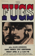 "Music Memorabilia:Posters, The Fugs Santa Monica Civic Auditorium Concert Poster (1967). Oneof the most unusual ""rock"" acts of the mid 1960s, the Fugs..."