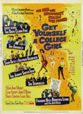 "Music Memorabilia:Posters, ""Get Yourself a College Girl"" Movie Poster (Four Leaf, 1966). Thisbreezy musical comedy featured a great line-up of Rock an..."