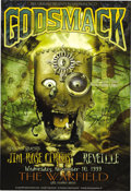 Music Memorabilia:Posters, Godsmack Signed Warfield Concert Poster BGP-223 (Bill GrahamPresents, 1999). Godsmack are one of the current kings of Heavy...