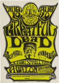 "Music Memorabilia:Posters, Grateful Dead ""Greatful Dead"" Avalon Concert Poster FD-22 (Family Dog, 1966). It was early on in the Dead's long strange tri..."