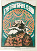"Music Memorabilia:Posters, Grateful Dead ""Satyr"" Avalon Concert Poster FD-40, Signed by theArtist (Family Dog, 1966). This wild poster features what a..."