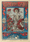 "Music Memorabilia:Posters, Grateful Dead ""Skeleton and Roses"" Avalon Concert Poster FD-26(Family Dog, 1966). Here's one of the best-known, and most hi..."