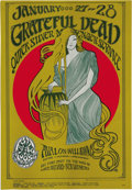 "Music Memorabilia:Posters, Grateful Dead ""Girl With Long Hair"" Avalon Concert Poster FD-45(Family Dog, 1967). A beautiful Stanley Mouse art nouveau-i..."
