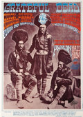 "Music Memorabilia:Posters, Grateful Dead ""Three Indian Dudes"" Avalon Concert Poster FD-54,Signed by Rick Griffin (Family Dog, 1967). A sharp second pr..."