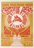 "Music Memorabilia:Posters, Grateful Dead Straight Theater Concert Poster (Straight TheaterEnterprises, 1967). This ""dance"" poster featuring San Franci..."