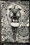 Music Memorabilia:Posters, Grateful Dead Lion Fillmore West Concert Poster #BG134 (Bill Graham, 1968) Incredible line-ups for the two shows this poster...