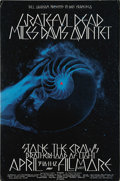 Music Memorabilia:Posters, Grateful Dead/Miles Davis Quintet Fillmore West Concert PosterBG-227 (Bill Graham Presents, 1970). A trippy x-ray image of ...