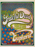 Music Memorabilia:Posters, Grateful Dead Euphoria Concert Poster (1970). This rarely seenposter here is from the San Rafael club Euphoria. Over the ye...