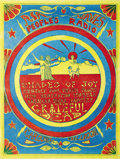 "Music Memorabilia:Posters, Grateful Dead Carousel Ballroom Benefit Concert Poster (1970). Arare poster for the ""Peoples Air Waves"" show at the Carouse..."