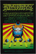 Music Memorabilia:Posters, Iron Butterfly Fillmore West Concert Poster BG-141, Signed by theArtists (Bill Graham, 1967). Those Zap Comix guys, Ric...