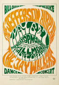 Music Memorabilia:Posters, Jefferson Airplane Fillmore Auditorium Concert Poster BG-5 (BillGraham Presents, 1966). This tough to find first printing c...