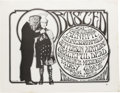 """Music Memorabilia:Posters, Jefferson Airplane """"Busted"""" Fillmore Concert Poster (S.F. MimeTroupe, 1967). Buster Keaton's classic silver screen image ap..."""