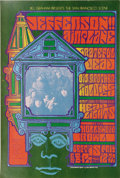 Music Memorabilia:Posters, Jefferson Airplane/Grateful Dead Hollywood Bowl Concert PosterBG-81 (Bill Graham Presents, 1967). Grace and the boys appear...