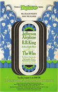 Music Memorabilia:Posters, Jefferson Airplane/B. B. King/Who Tanglewood Handbill (Bill GrahamPresents, 1968) Here's a colorful handbill for a travelin...