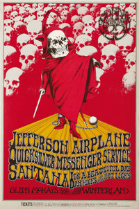 """Jefferson Airplane """"A Benefit For The Grateful Dead"""" Concert Poster BG-222 (Bill Graham Presents, 1970). This..."""