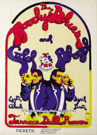 "Moody Blues Salt Lake City Concert Poster (Stan Schubach, 1970). An April 1st ""Masquerade or Come As You Are""..."
