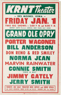 Music Memorabilia:Posters, Grand Ole Opry Roadshow Poster, Group of 3 (1967-69) PorterWagoner, Bill Anderson, Connie Smith, Merle Haggard, Hank Snow, ...(Total: 3 )