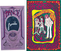 Music Memorabilia:Posters, Quicksilver Messenger Service Concert Poster, Group of 2 (1967) Twovery colorful posters featuring the San Francisco band Q... (Total:2 )