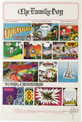 """Music Memorabilia:Posters, Quicksilver Messenger Service """"Sunday Funnies"""" Avalon ConcertPoster FD-89, Signed by Rick Griffin (Family Dog, 1967). Befor..."""
