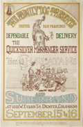 "Music Memorabilia:Posters, Quicksilver Messenger Service ""Hee Haw"" Denver Concert Poster FD-D2(Family Dog, 1967). The Western-style graphics (by Micha..."