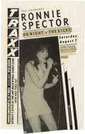 Music Memorabilia:Original Art, Ronnie Spector Traxx Handbill Production Art (Traxx, 1982). Ronnie Spector has had one of the most enduring careers of all f...