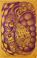 Music Memorabilia:Posters, The Who Fillmore Concert Poster BG-68 (Bill Graham Presents, 1967).A wild purple on orange image of swirling heads and sphe...