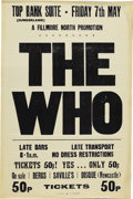 Music Memorabilia:Posters, The Who Top Rank Suite Concert Poster (1971) This down 'n' dirtyblack on white poster was prepared in a hurry, for a small ...