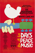 "Music Memorabilia:Posters, Woodstock Festival Original Poster (Woodstock Music & Art Fair,1969). All together now -- ""...By the Time I Got toWoodst..."