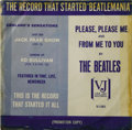 "Music Memorabilia:Recordings, Beatles ""Please Please Me""/ ""From Me To You"" Rare Promo PictureSleeve Vee-Jay 581 (1964). This rare promo sleeve boldly pro..."