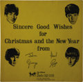 Music Memorabilia:Recordings, Beatles Fan Club Christmas Flexi With Picture Sleeve (1963). Thisflexi contains a special message from the Beatles to their...