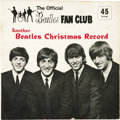 Music Memorabilia:Recordings, Beatles Fan Club Xmas Record Set (1964). The second in a seriesthat continued until 1969 included a 45 flexi-disc, two-side...