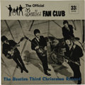 Music Memorabilia:Recordings, Beatles Fan Club Christmas Record (1965). Flexi-disc, cardboardpicture sleeve, and insert from the group's series of Christ...