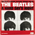 """Music Memorabilia:Recordings, Beatles """"A Hard Day's Night"""" LP United Artists 3366 (1964). Firstpressing of the original motion picture soundtrack of """"A H..."""