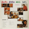 """Music Memorabilia:Recordings, Beatles """"Golden Hits Vol. 1"""" Victory 173 (Korea, circa 1970). Thiswas only released in Korea and contains hits from 1964 - ..."""