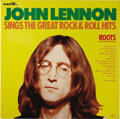 """Music Memorabilia:Recordings, John Lennon """"Roots"""" Adam VIII 8018 (1975). The release conceptappealed to John Lennon because of his late night viewing of ..."""