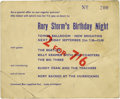 Music Memorabilia:Tickets, Rory Storm's Birthday Night Ticket. Mostly remembered these days asRingo Starr's bandmates before he joined the Beatles, Ro...
