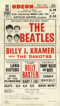 Music Memorabilia:Posters, The Beatles Odeon Theatre Handbill (1963) Britain's Fabulous Disc Stars! So says this rare handbill advertising shows at the...