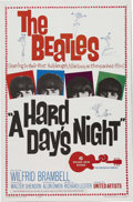 "Music Memorabilia:Posters, The Beatles ""A Hard Day's Night"" Movie One-Sheet Poster (UnitedArtists, 1964). The Beatles' joyful first feature-length mo..."
