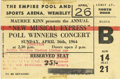 Music Memorabilia:Tickets, Beatles Wembley Arena Concert Ticket, 1964. Ten thousand fansattended the Beatles' April 26, 1964 show at the Wembley Sport...