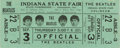 Music Memorabilia:Tickets, Beatles Indiana State Fair Concert Ticket. An unused ticket to the5 p.m. performance on September 3, 1964, one of two that ...