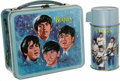 Music Memorabilia:Toys, Beatles Metal Lunchbox with Thermos. Produced by Aladdin Industriesin 1965, this was the first metal box to use pop music p... (1 )