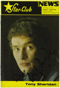 Music Memorabilia:Memorabilia, Star Club News Magazine, signed by Tony Sheridan (1965) This is afan magazine, published mainly in German (but including se...