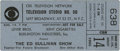 "Music Memorabilia:Tickets, Beatles ""Ed Sullivan Show"" Ticket. On August 14, 1965, the Beatlesreturn to the scene of their historic American TV debut o..."