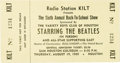 Music Memorabilia:Tickets, Beatles Sam Houston Coliseum Concert Ticket. Beatlemania was running high during these two shows in Houston on August 19, 19...