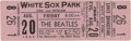 Music Memorabilia:Tickets, Beatles White Sox Park Concert Ticket. After two chaotic sets in Houston the day before, the Beatles flew to Chicago for thi...